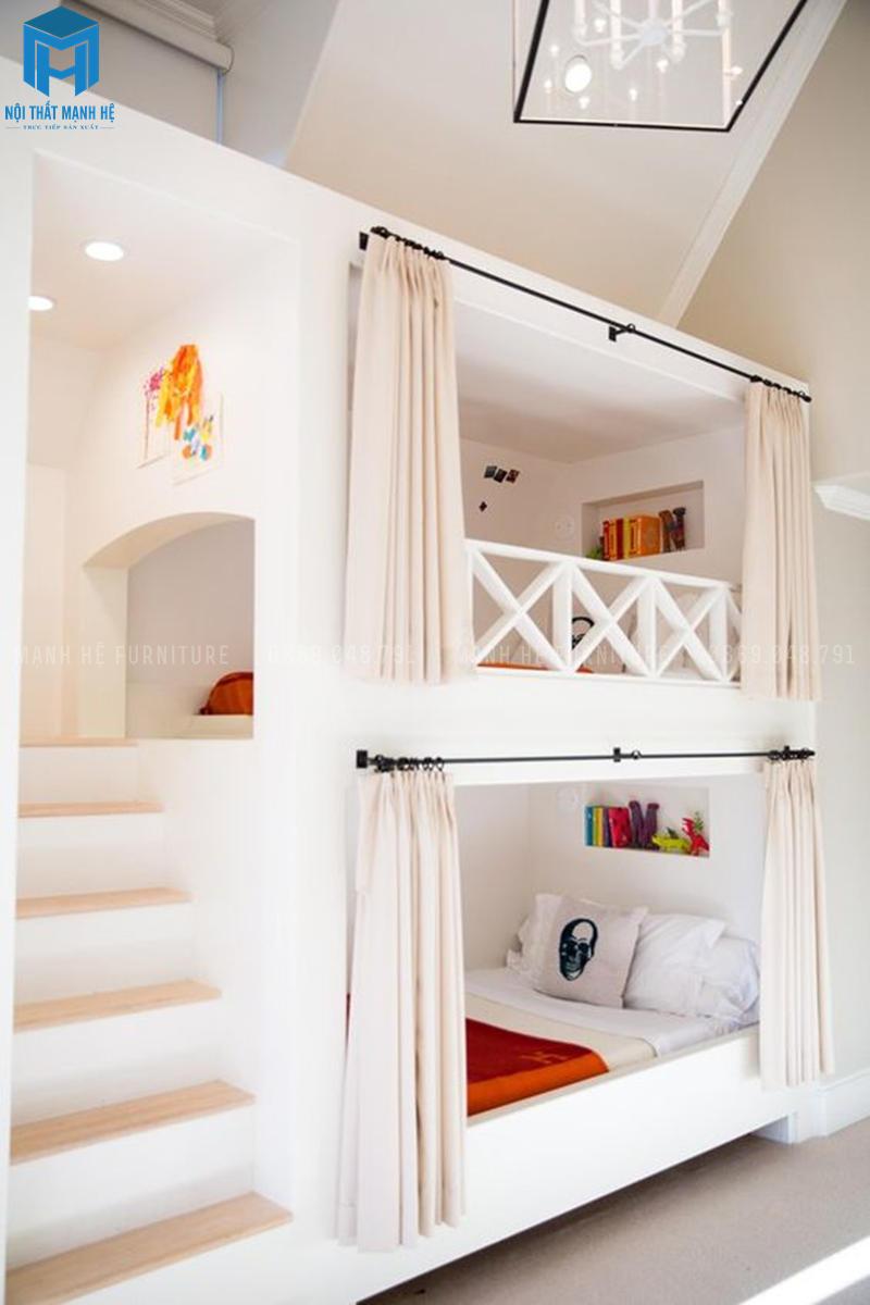 Thiết kế phòng ngủ kiểu chị em cho các nàng công chúa