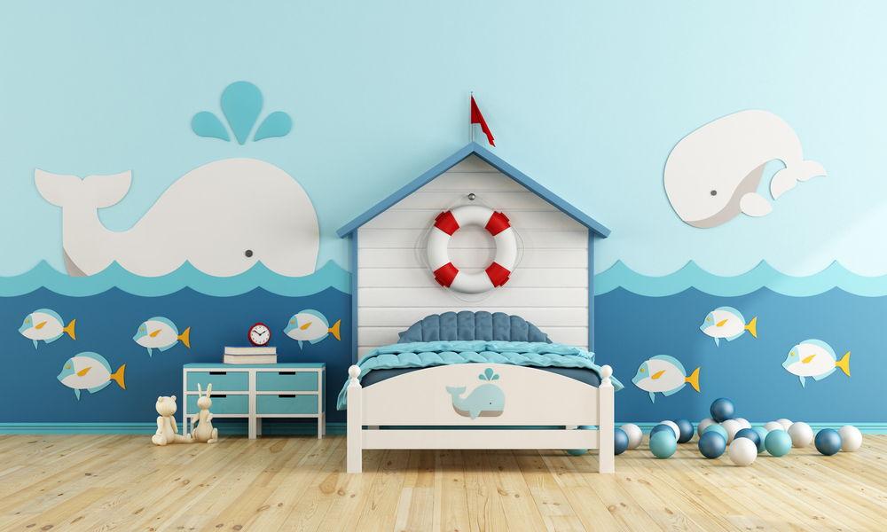phòng ngủ sử dụng giấy dán tường trang trí