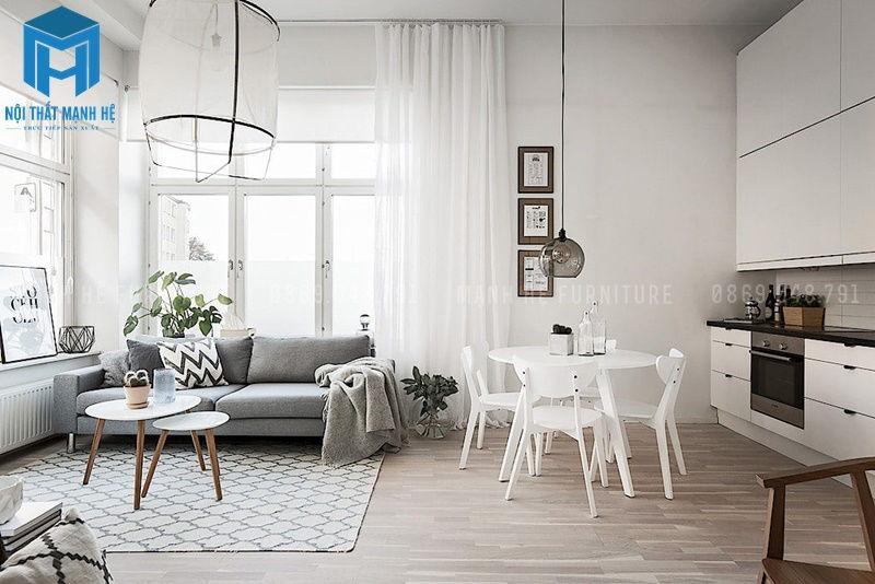 Màu sơn phòng khách trang nhã, hiện đại