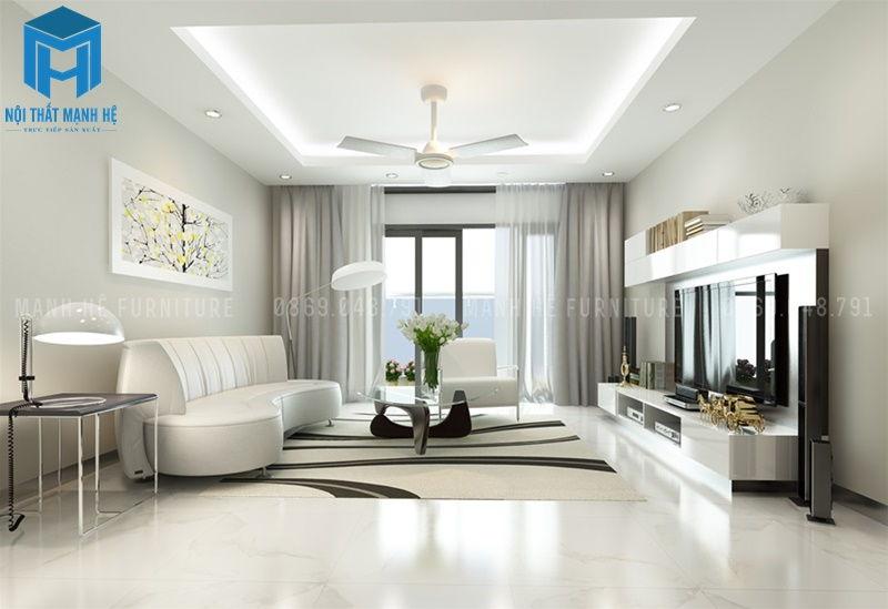 Sử dụng màu sơn phòng khách theo phong thủy