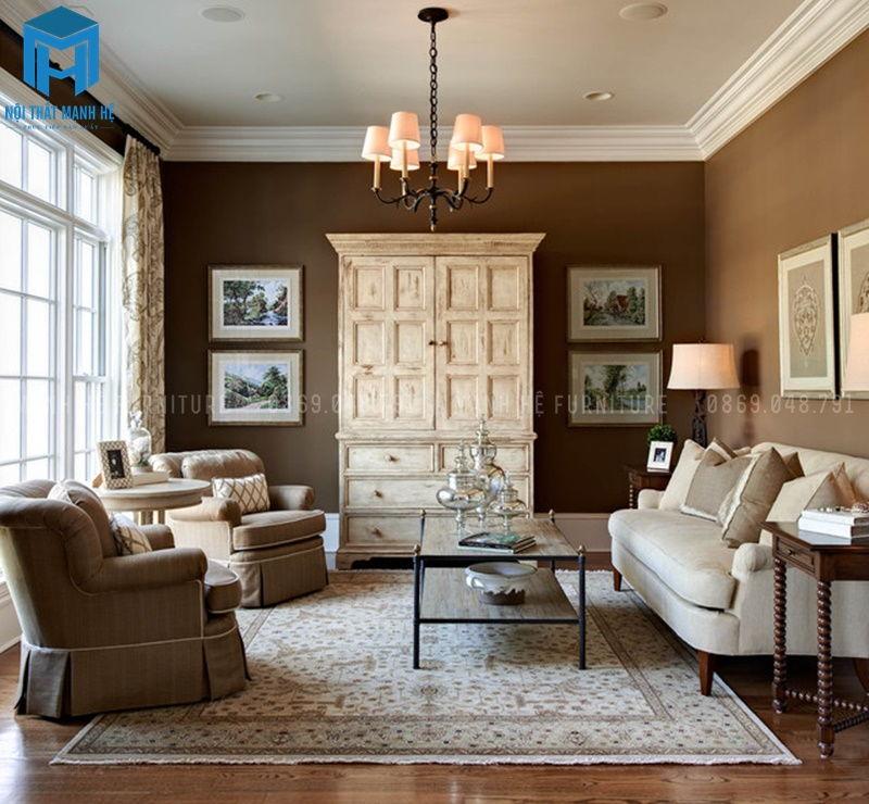 Chọn màu sơn tường phòng khách tương sinh với màu bản mệnh
