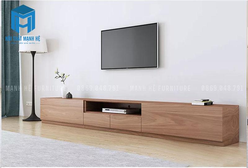 tủ tivi đơn giản có nhiều hộc