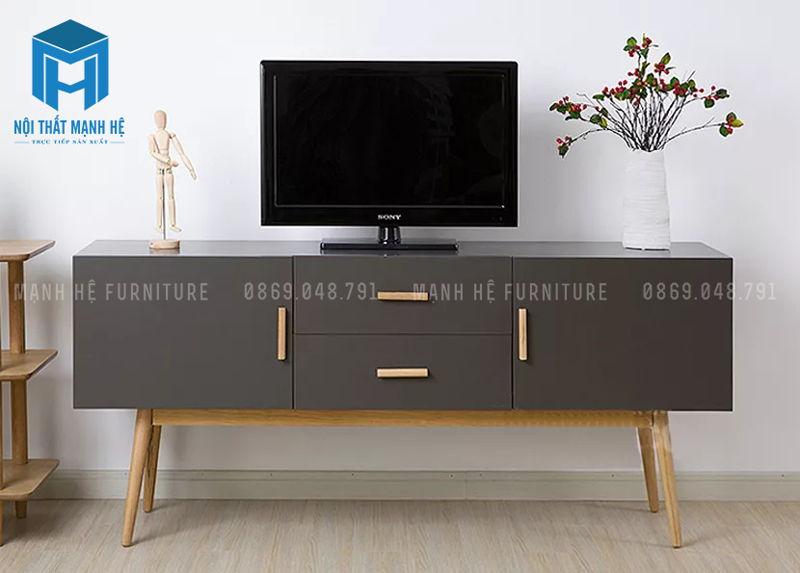 tủ tivi có chân gỗ
