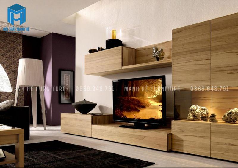 kệ tivi bằng gỗ