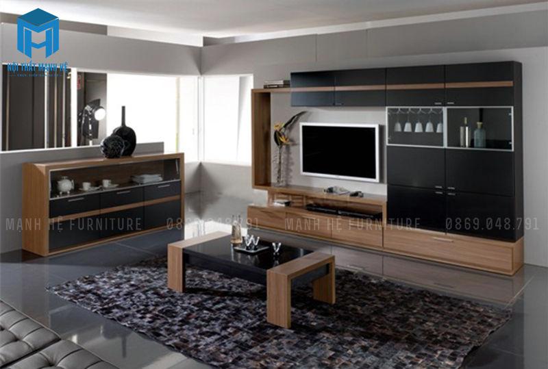 kệ tivi đơn giản kết hợp với đợt treo